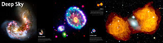 Panel: Antennae Galaxies, Cartwheel Galaxy and Fornax A