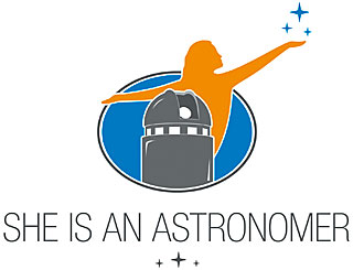 She is an Astronomer Logo
