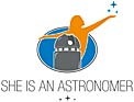 Logo: She is an Astronomer